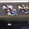 David Gilliland has a flat tire at Daytona International Speedway