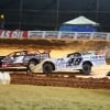 Earl Pearson Jr, Jonathan Davenport and Scott Bloomquist in the Super Bowl of Racing at Golden Isles Speedway 6447