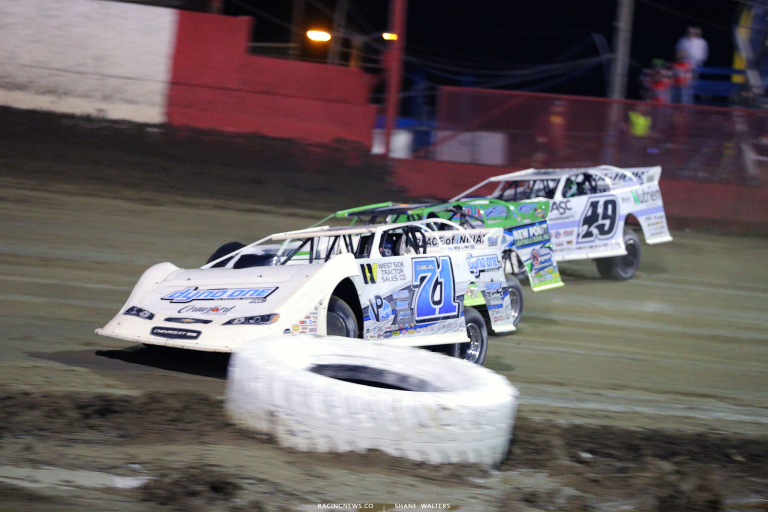 Hudson O'Neal, Tyler Erb and Jonathan Davenport at East Bay Raceway Park 7245