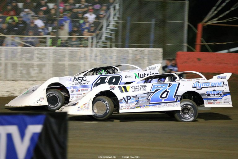 Hudson O'Neal and Jonathan Davenport at East Bay Raceway Park - LOLMDS 7270