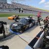 Jeffrey Earnhardt pit stop - NASCAR Toyota Supra
