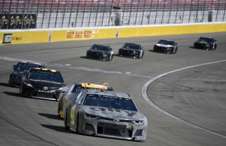 Jimmie Johnson during the 2019 NASCAR test in Las Vegas