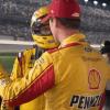 Joey Logano and Michael McDowell at Daytona International Speedway