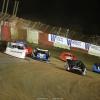 Jonathan Davenport, Scott Bloomquist, Brian Shirley and Devin Moran at East Bay Raceway Park 7152