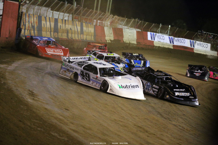 Jonathan Davenport, Scott Bloomquist, Brian Shirley and Devin Moran at East Bay Raceway Park 7157