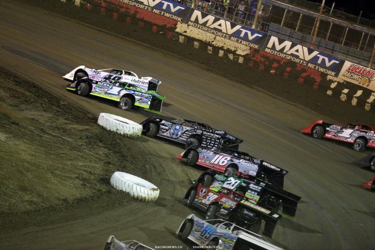 Jonathan Davenport, Tyler Erb, Scott Bloomquist, Tanner English, Jimmy Owens and Tim McCreadie at East Bay Raceway Park 9739