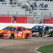 Kyle Larson and Aric Almirola at Atlanta Motor Speedway