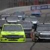 Matt Crafton and Harrison Burton in the NASCAR Truck Series race at Atlanta Motor Speedway