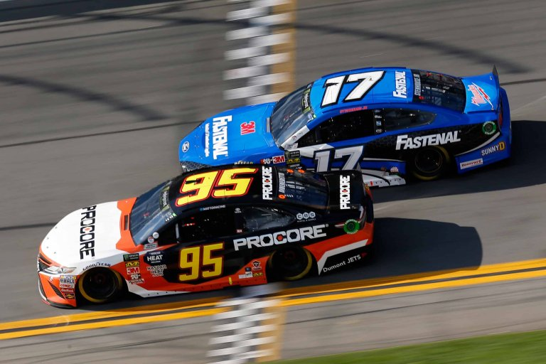 Matt DiBenedetto and Ricky Stenhouse Jr at Daytona International Speedway