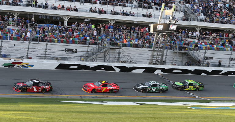 Michael Annett holds off Justin Allgaier to win Xfinity opener at Daytona