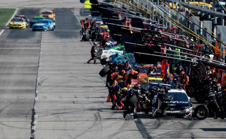 NASCAR pit stops