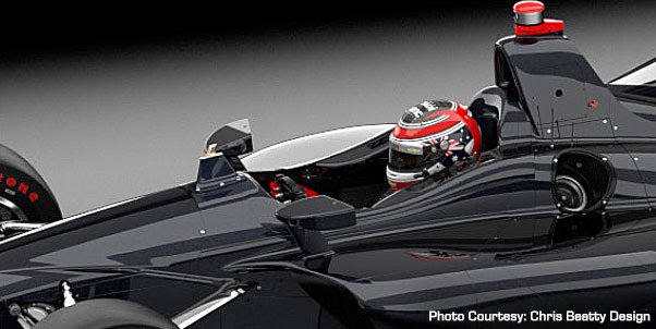 New indycar cockpit with AFP (Advanced Frontal Protection)