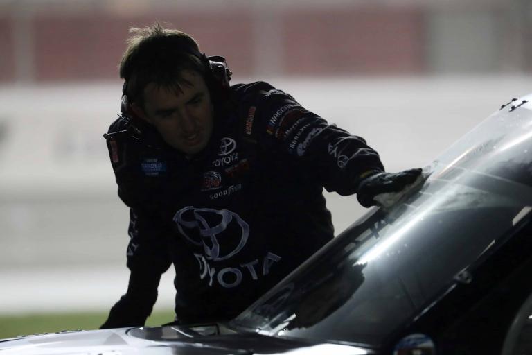 Rain during the NASCAR TRuck Series race at Atlanta Motor Speedway