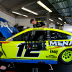 Ryan Blaney in the NASCAR garage area