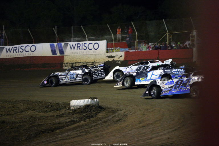 Scott Bloomquist, Jonathan Davenport, Jason Jameson and Austin Rettig at East Bay Raceway Park - Lucas Oil Late Model Dirt Series 0028