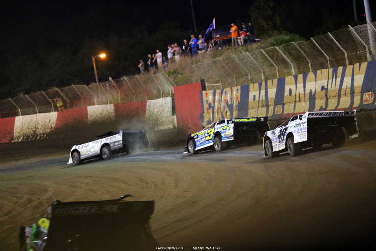Shanon Buckingham, Brian Shirley and Jonathan Davenport at East Bay Raceway Park 7686