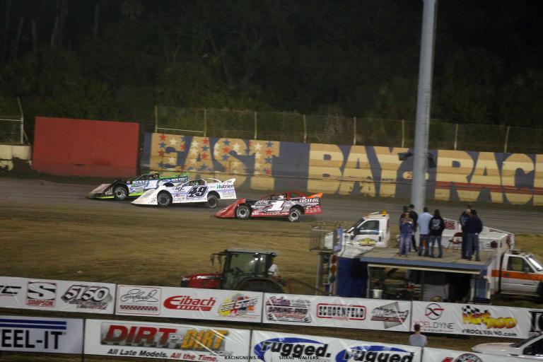 Tyler Erb, Jonathan Davenport and Earl Pearson Jr at East Bay Raceway Park - LOLMDS 9782