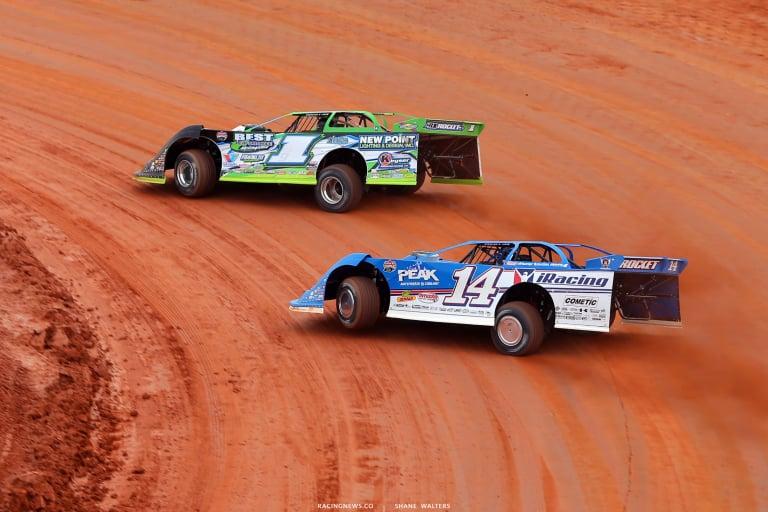 Tyler Erb and Josh Richards - Lucas Oil Late Model Dirt Series 6138