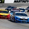 Brad Keselowski and Joey Logano at Martinsville Speedway - MENCS
