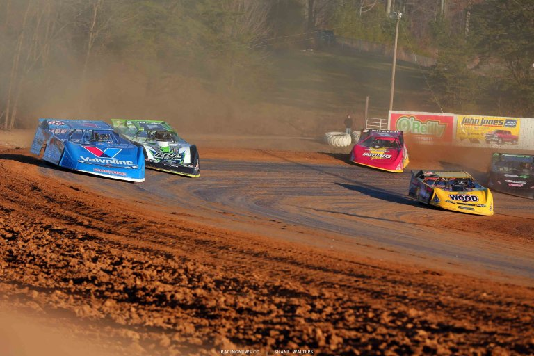 Brandon Sheppard, Tyler Erb, Tanner English and Tim McCreadie at Browntown Speedway - Lucas Oil Late Model Dirt Series 0537