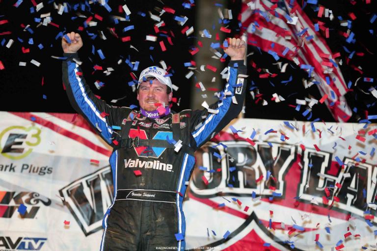 Brandon Sheppard wins at Brownstown Speedway 0962