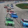 Bubba Wallace, Kyle Busch, Paul Menard and Martin Truex Jr at Texas Motor Speedway