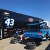 Bubba Wallace and Richard Petty Motorsports in the NASCAR garage area