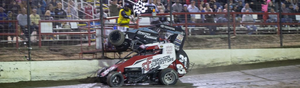 Christopher Bell and Jonathan Beason crash at the finish (Video)