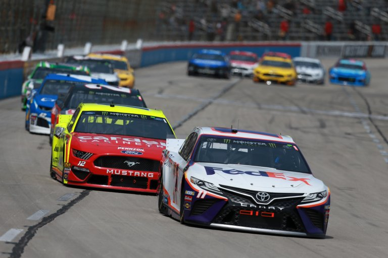 Denny Hamlin and Ryan Blaney at Texas Motor Speedway - NASCAR Cup Series
