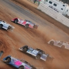 Devin Moran, Hudson O'Neal and Jonathan Davenport at Atomic Speedway 2403
