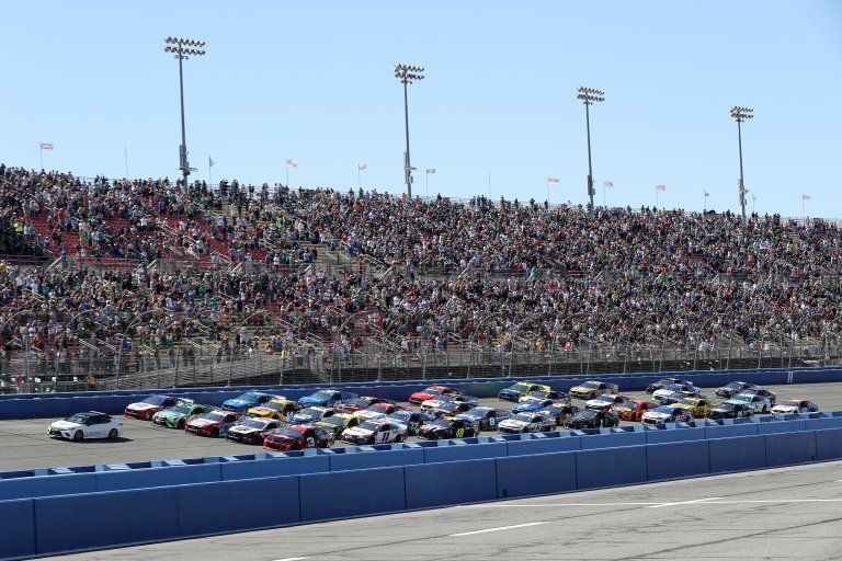 Five Wide Salute at Auto Club Speedway