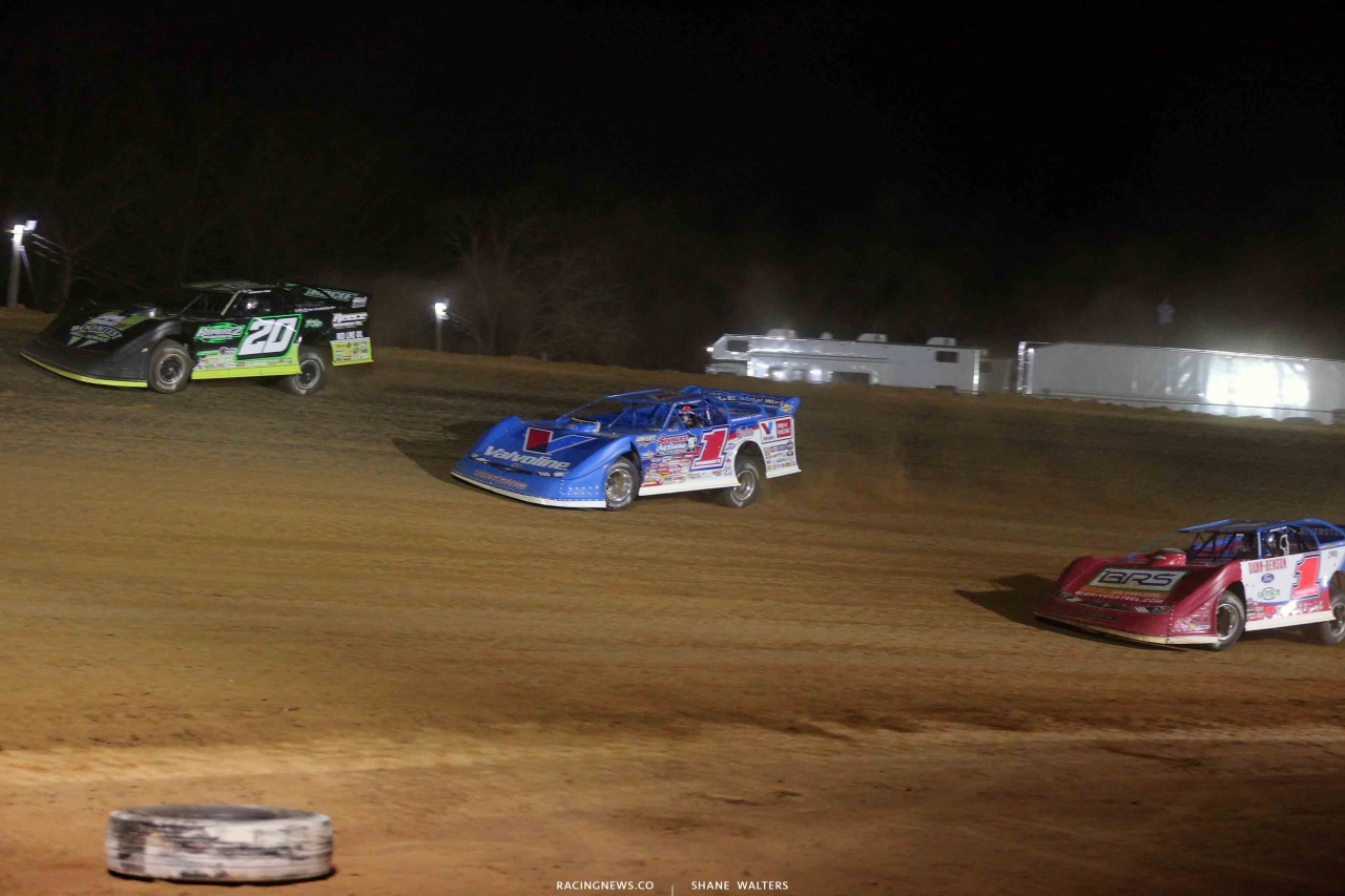 Jimmy Owens, Brandon Sheppard and Devin Moran at Atomic Speedway 2482