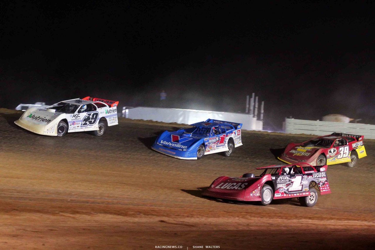 Jonathan Davenport, Brandon Sheppard, Tim McCreadie and Earl Pearson Jr at Atomic Speedway 2514