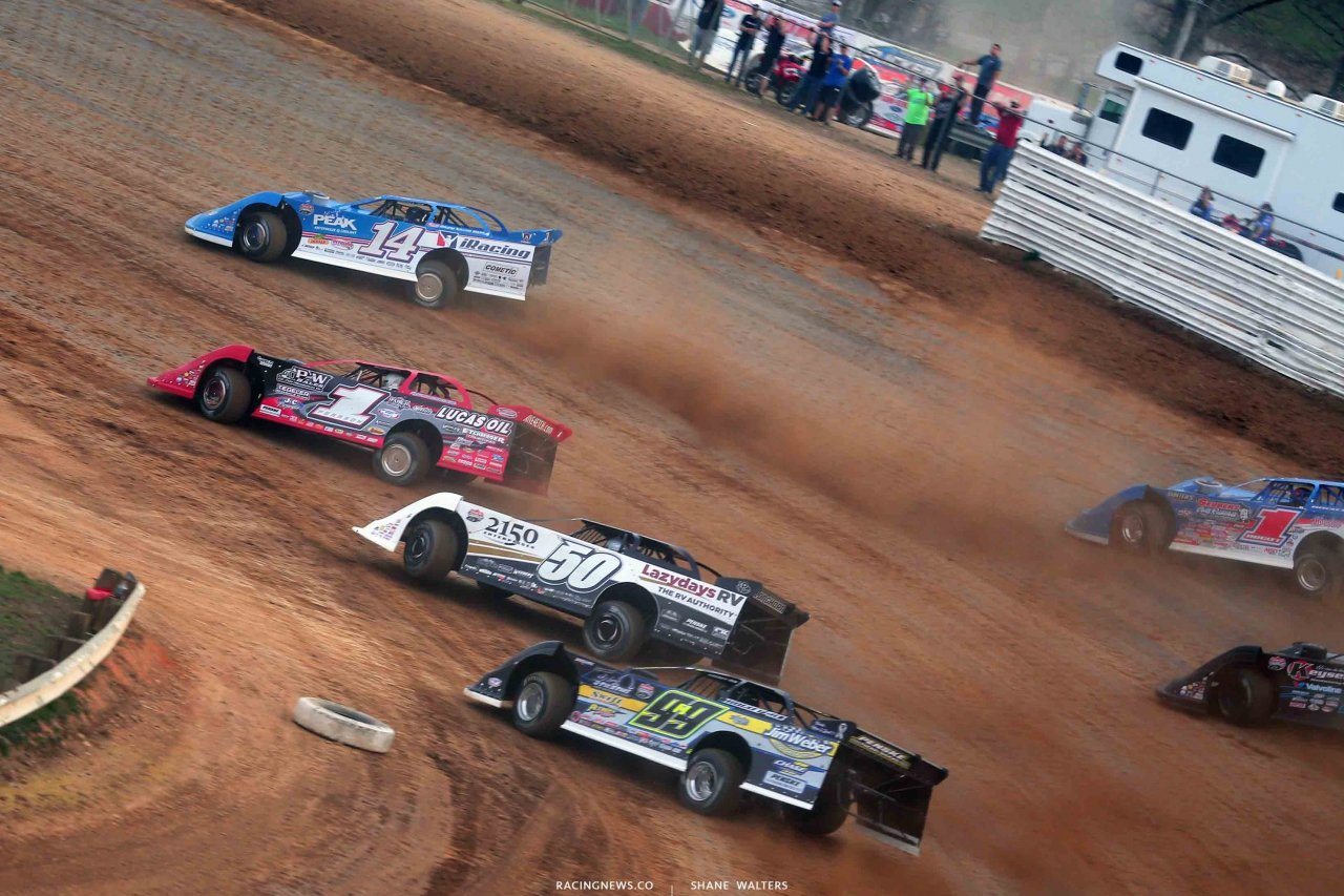Josh Richards, Earl Pearson Jr, Shanon Buckingham, Brandon Sheppard at Atomic Speedway - Lucas Oil Late Models 2380