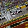 Kevin Harvick, Denny Hamlin and Kyle Busch at Las Vegas Motor Speedway