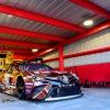 Kyle Busch in the NASCAR garage area