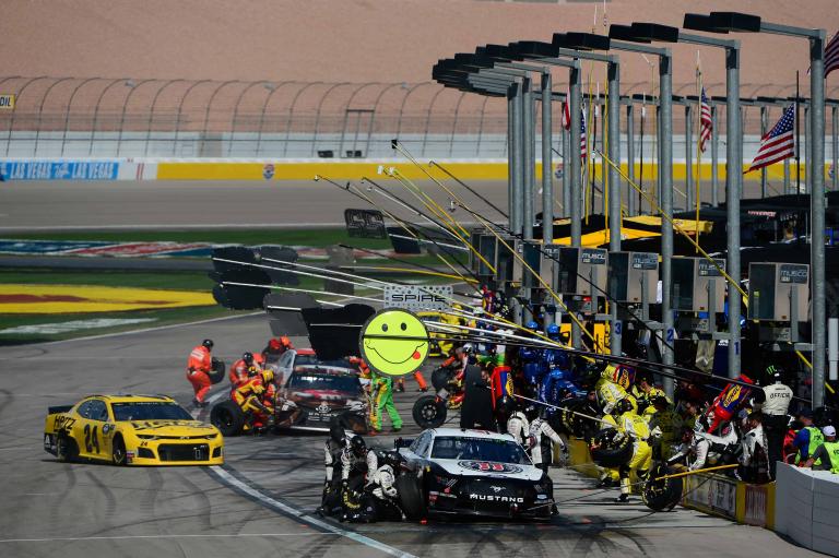 NASCAR pit stop at Las Vegas Motor Speedway