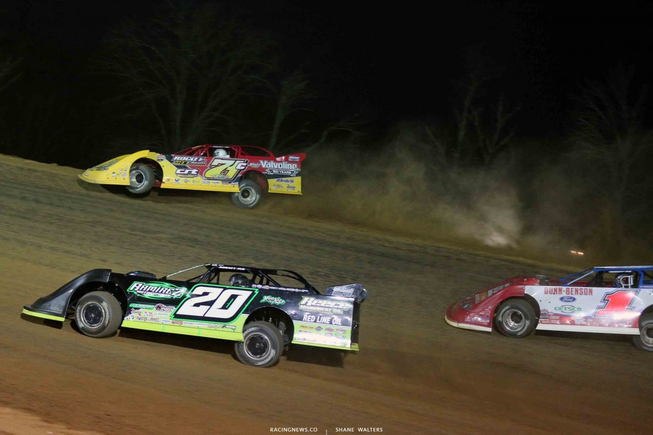 RJ Conley, Jimmy Owens and Devin Moran at Atomic Speedway - LOLMDS 2442