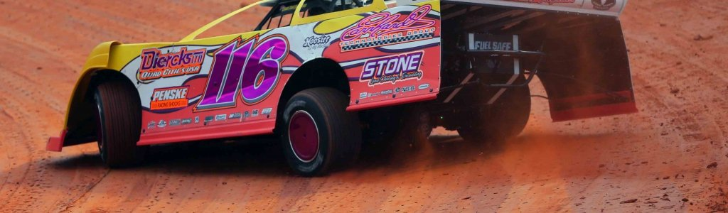 Randy Weaver is having fun with his crate late model team