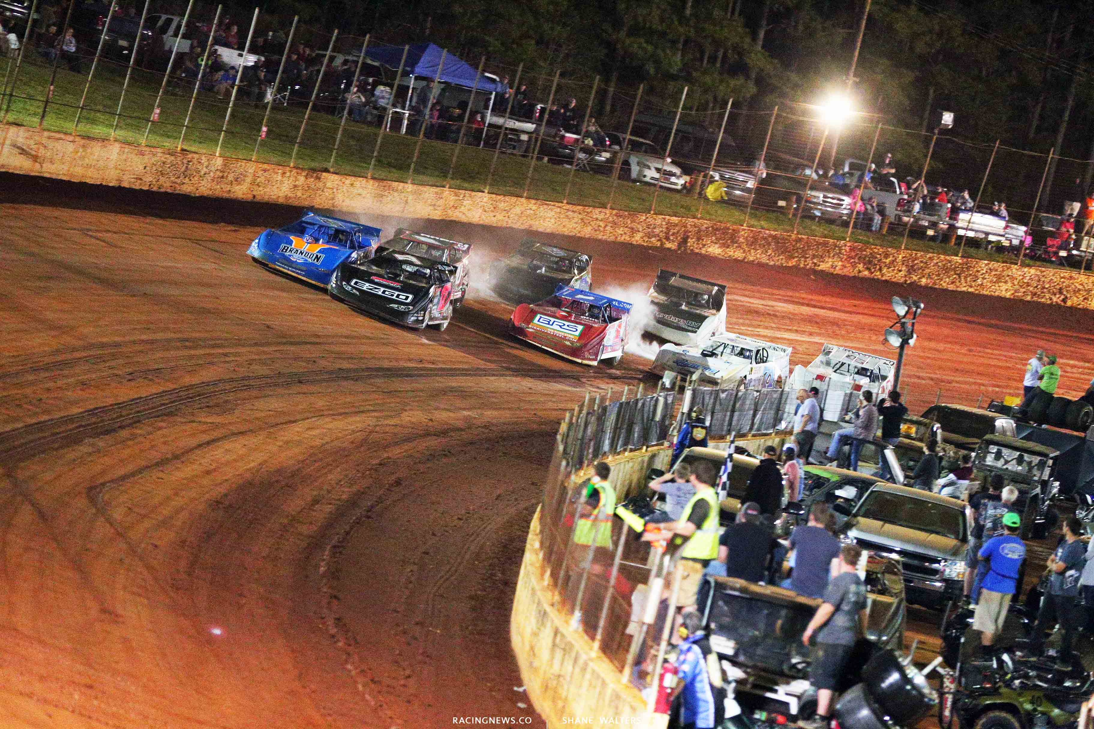 Dale McDowell, Kyle Bronson and Devin Moran at North Georgia Speedway 1810