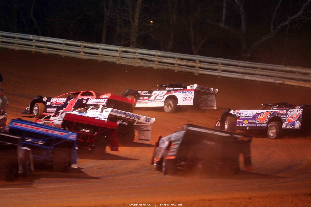 Gene Knaub and Jason Covert at Hagerstown Speedway - LOLMDS 2865