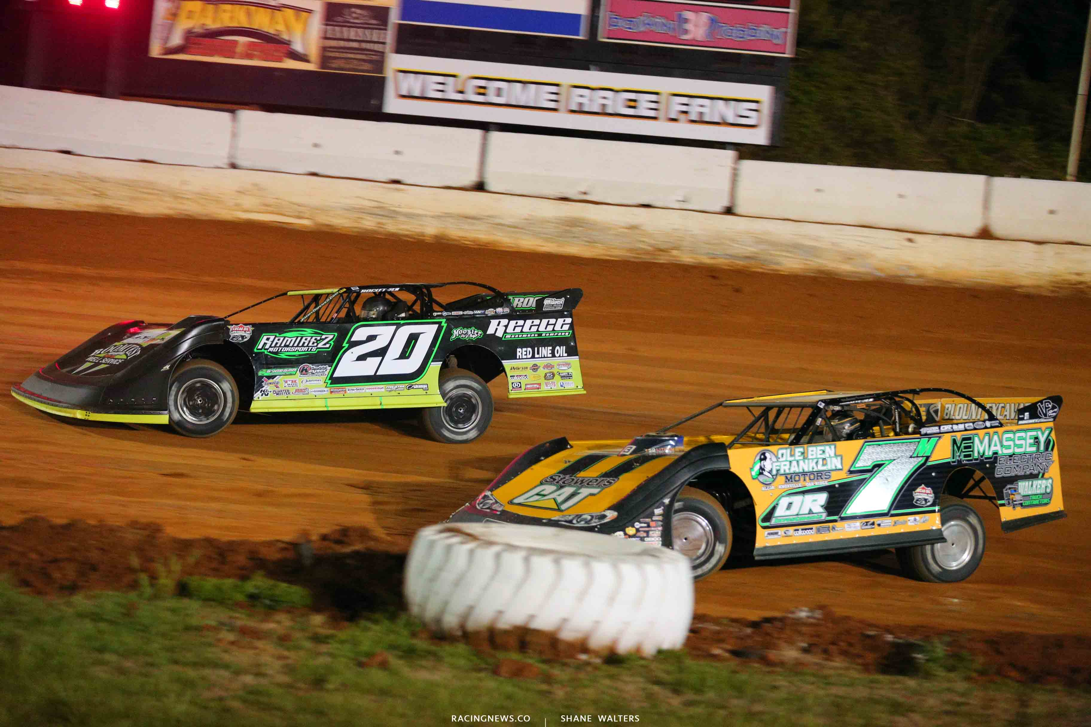 Jimmy Owens and Donald McIntosh at 411 Motor Speedway 1481