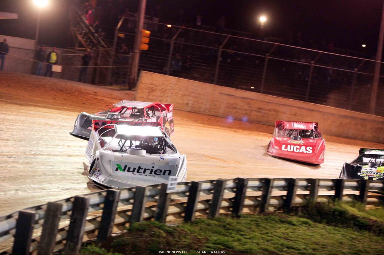 Jonathan Davenport, Gene Knaub and Earl Pearson Jr at Hagerstown Speedway 2925