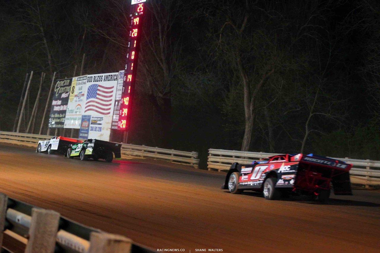 Jonathan Davenport, Jimmy Owens, Brandon Sheppard and Rick Eckert at Hagerstown Speedway 2966