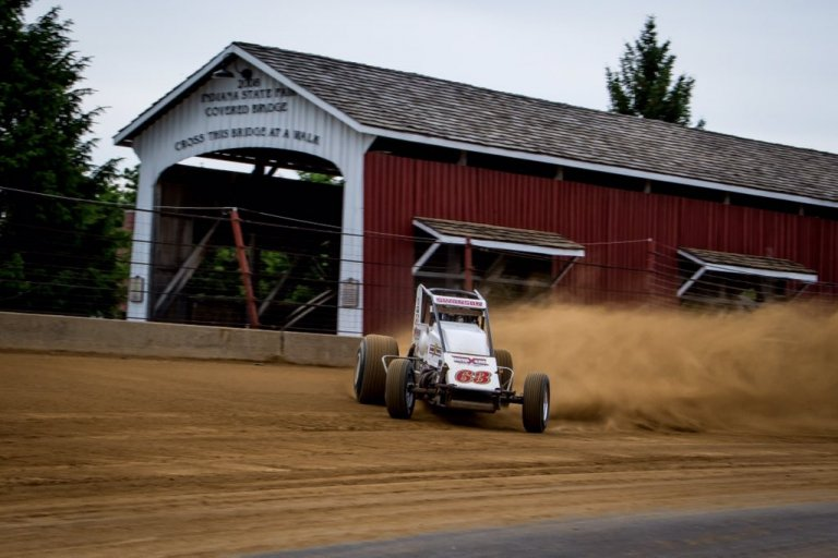 Kody Swanson in the Hoosier Hundred at the Indiana State Fairgrounds