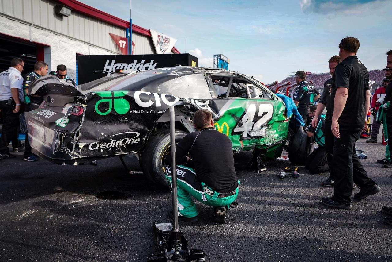 Kyle Larson crash at Talladega Superspeedway