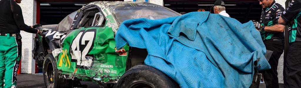 Kyle Larson flips at Talladega Superspeedway; NASCAR to investigate (Video)