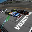 Michael Annett and Tyler Reddick in the NASCAR Xfinity Series race at Talladega Superspeedway