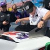 NASCAR Tech Inspection at Talladega Superspeedway - Denny Hamlin