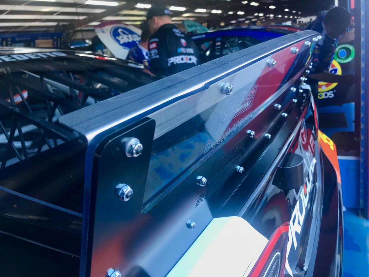 NASCAR wicker spoiler